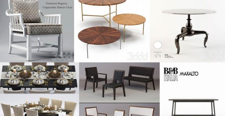 Pro models of desk and chair 3DSky No  3 - uparchvip