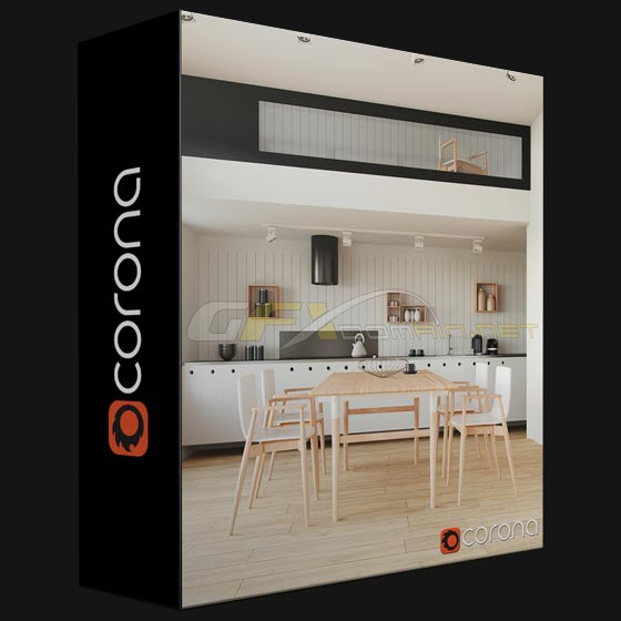 2020 Kitchen Design Software: CORONA 1.7.4 + MATERIAL LIBRARY