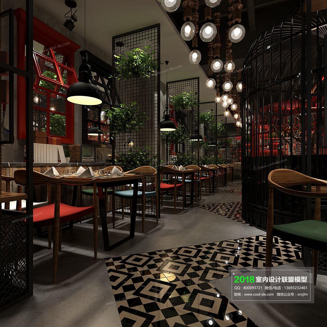 140 4 - مجموعه صحنه آماده رستوران 2018 - 3dsmax, vray