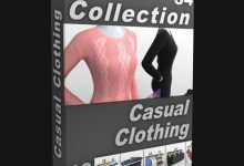 Photo of DIGITALXMODELS – 3D MODEL COLLECTION – VOLUME 34: CASUAL CLOTHING