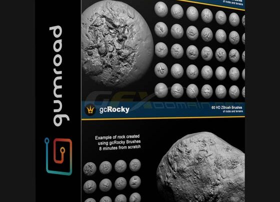 GUMROAD – GCROCKY 60 HD ZBRUSH BRUSH PACK - uparchvip