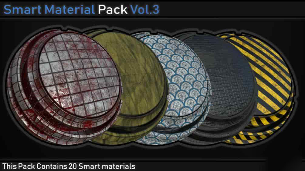 Gumroad Smart Material Pack Vol 3 Uparchvip