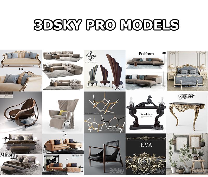 10 000 3DSKY PRO MODELS ( VRAY – CORONA )
