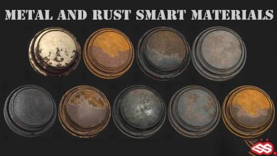 Photo of ArtStation Marketplace – 9 METAL AND RUST SMART MATERIALS