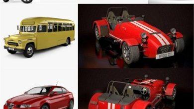 Photo of Car 3D Models Bundle April 2020