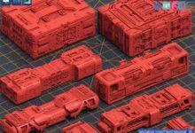 Photo of ArtStation Marketplace – Mech Warrior Hard Surface Kitbash 5 of 20