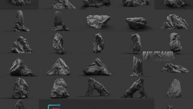 Photo of ArtStation Marketplace – Rock Collection Vol 2 – Jungle Rocks