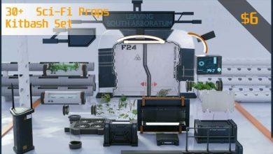 Photo of ArtStation Marketplace – 30+ Sci-Fi Props Kitbash set